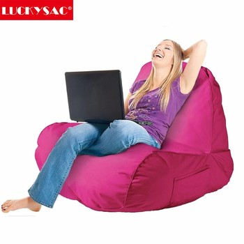LUCKYSAC Bean Bag   Indoor L Shape Bean Bag Chair Large Lounger Chair New  Relax