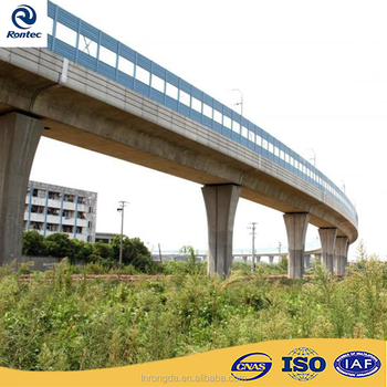 Noise Absorbing Barrier For High Speed Rail Or Viaduct