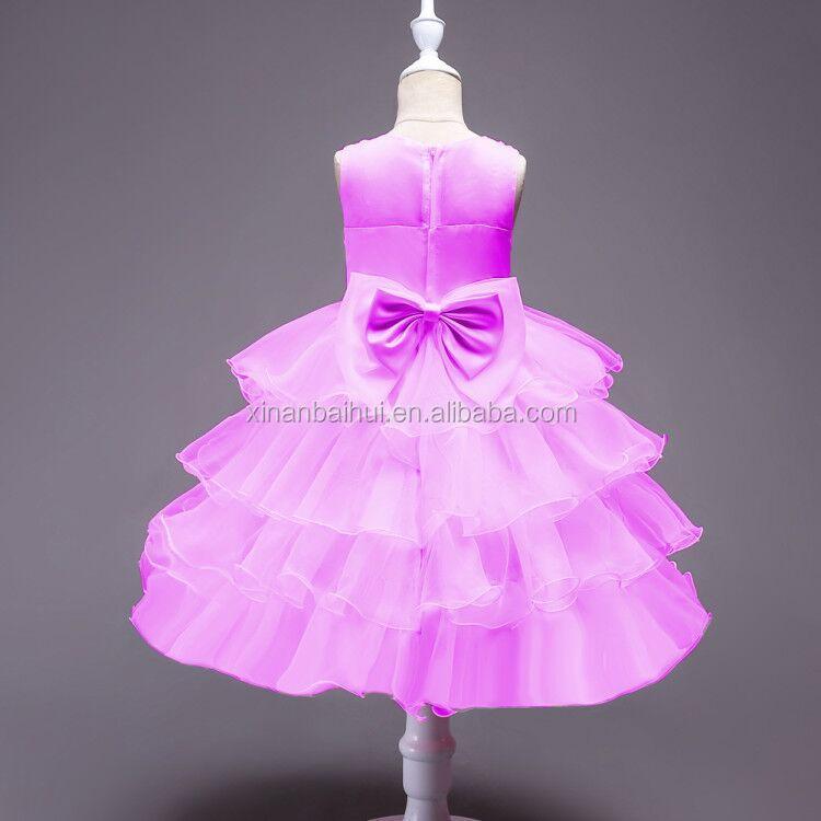 Blue Girl Princess Birthday Dress Flower Girl Bridesmaid Dresses ...
