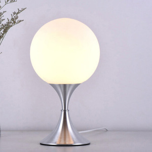 cheap price white round glass ball cover lamp frosted glass lamp shade in guzhen factory