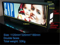 2014 OEM manufacturing advertising led TV screen taxi roof top sign led led screen/advertising display for car