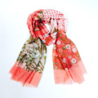Girl Lady print Polyester silk scarf and shawl for spring summer beach wholesale hijab muffler