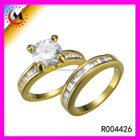 Latest Gold Ring Designs Value 925 Silver Couple Ring Gold 18K Silver Ring For Wedding