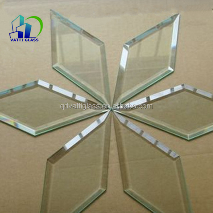clear float beveled glass beveled galss pieces