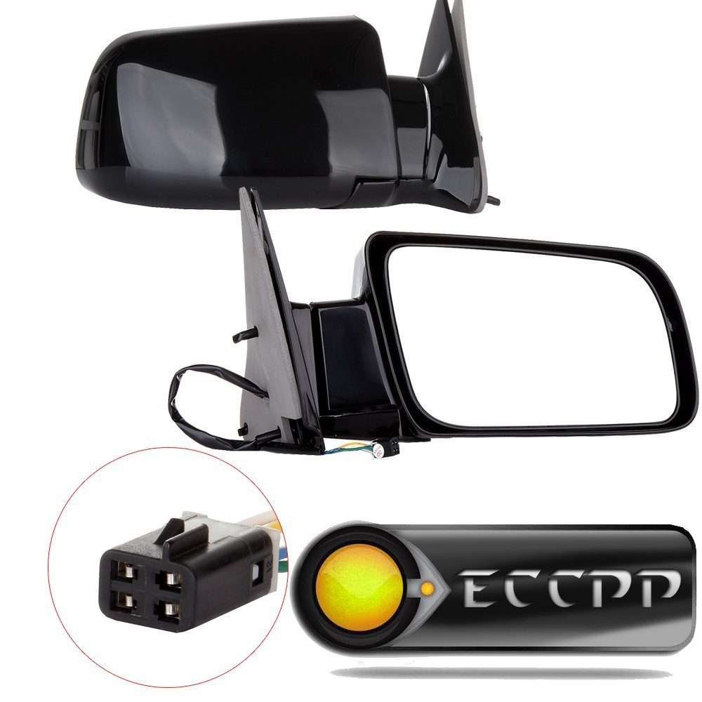 ECCPP® Mirror Side View Power Folding Black Driver & Passenger side(A Pair) for 1988-00 Chevy GMC Pickup Truck GM1321122 128-2480R 15764758 955-192