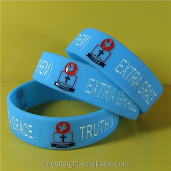 Custom 20mm Wide Silicone Wristbands Rubber Bands