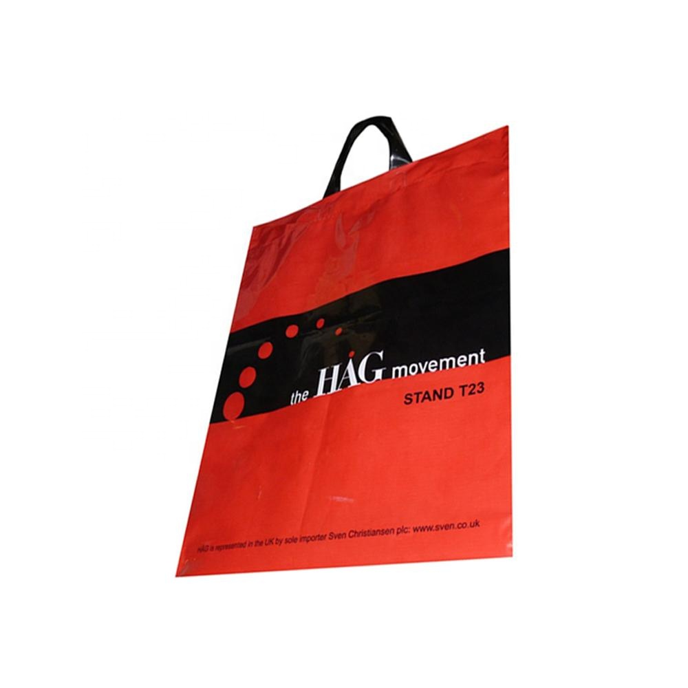 reusable hm plastic poly shopping bags with logo