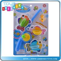 carton toy plastic kids game fishing set