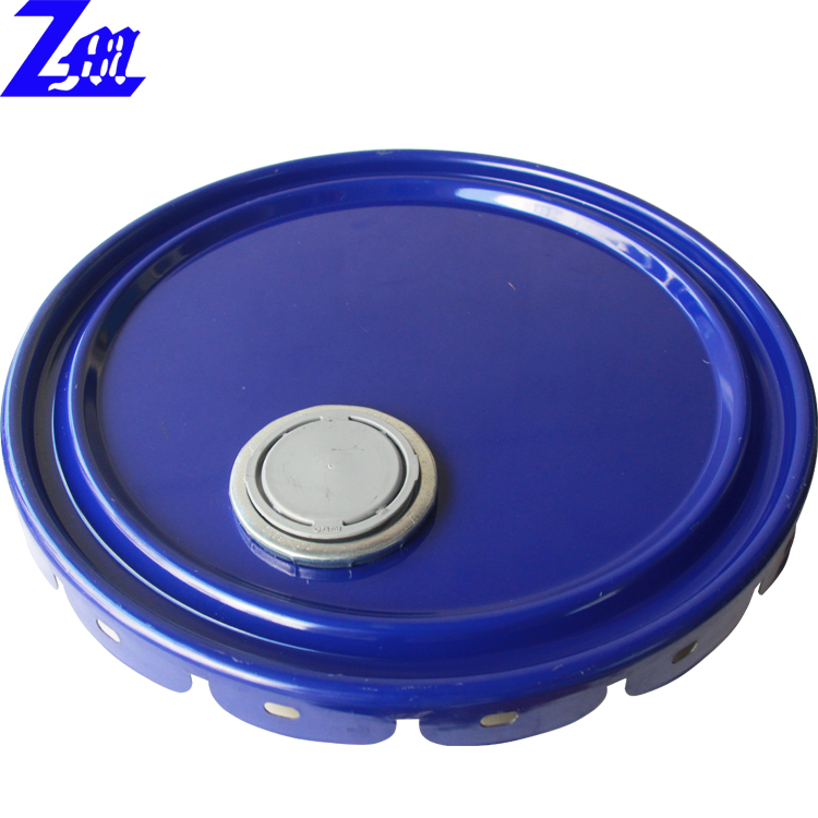 flower edge lid components metal lug lid with spouts used for 18-25L tin pail