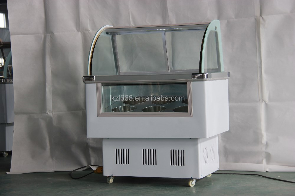 Italiano ice cream display freezer/mini ice cream caso di esposizione/piccolo gelato freezer