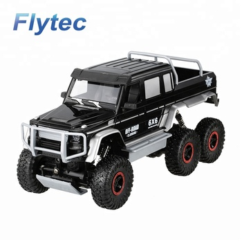 Flytec 699 - 119 2.4G Six Wheel RC Electric Car Off Road Rock Crawler Climbing RC Buggy Car RTR Toy RC Car Best Gift ( Black )