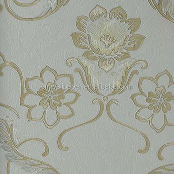 vinyl pvc wall designs in cream color italian embossed flower wallpaper embossed wallpaper for home decoration - Flower Wallpaper For Home