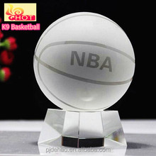 Decorative K9 material 150mm Crystal Sports Ball Crystal Basketball