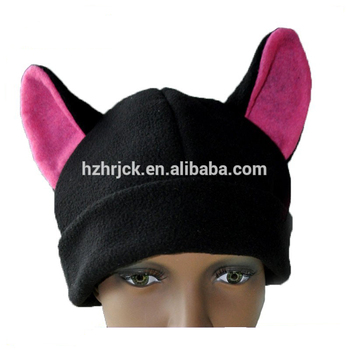1ade5b5d Black cat ear fleece ski snowboard anime cosplay beanie hat Lovely outdoor  windproof polar fleece warm
