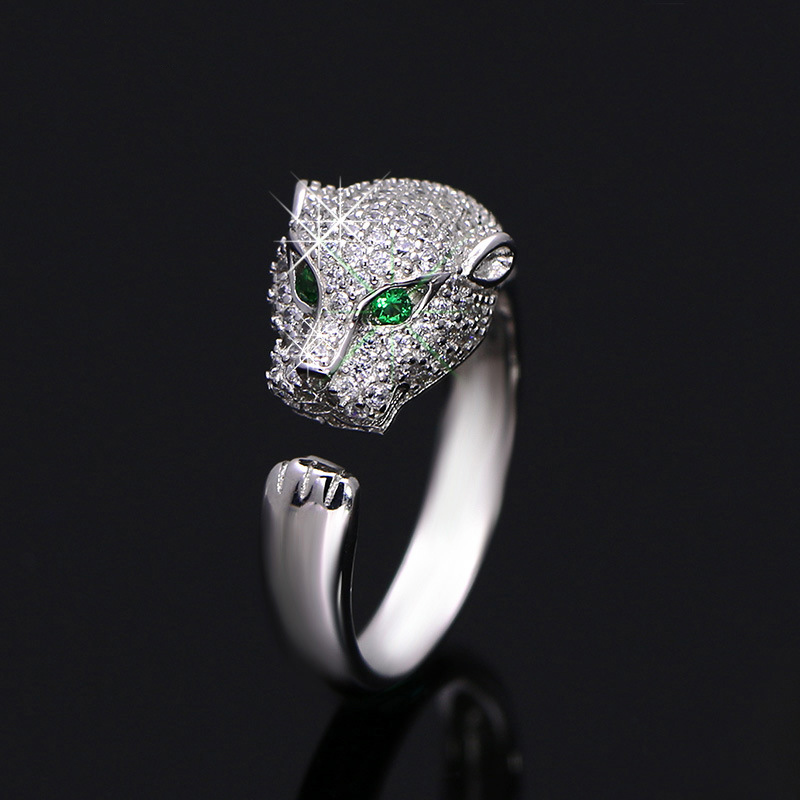 micro pave jewelry 925 sterling silver ring