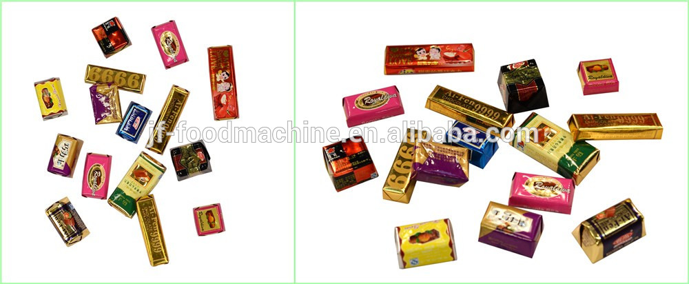 Square chocolate wrapping machines/Automatic chocolate bar wrapping machine