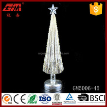 Top quality manual sliver line glass Christmas tree ornaments