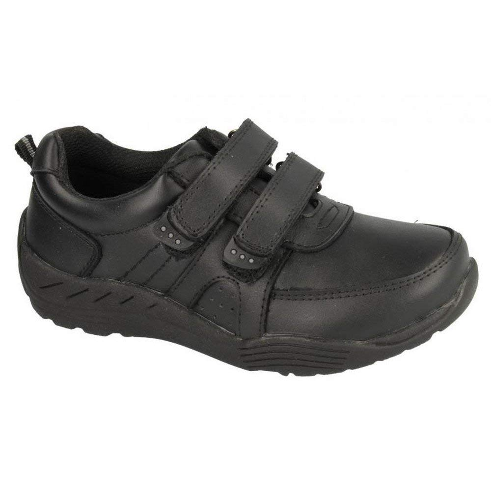 b17075ebdb5b Get Quotations · Red Tag Childrens Boys Double Touch Fastener Strap Leather  School Shoes