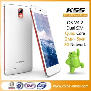 K55 QHD IPS MTK6582 3G Dual Sim 1G+8G 5.5 inch Android 4.4 alps mobile phone