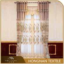 Popular european style elegant window velvet embroidered curtains