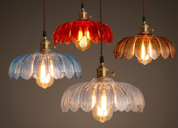 Fashion simple creative lotus lamp shade colourful glass pendant fashion simple creative lotus lamp shade colourful glass pendant lamp aloadofball Image collections