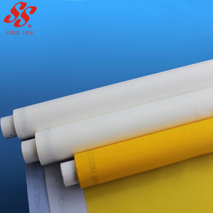 160 micron polyester silk screen printing mesh fabric / bolting cloth