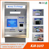 Wall through cash acceptor and bill dispenser currency exchange machine automatic payment terminal