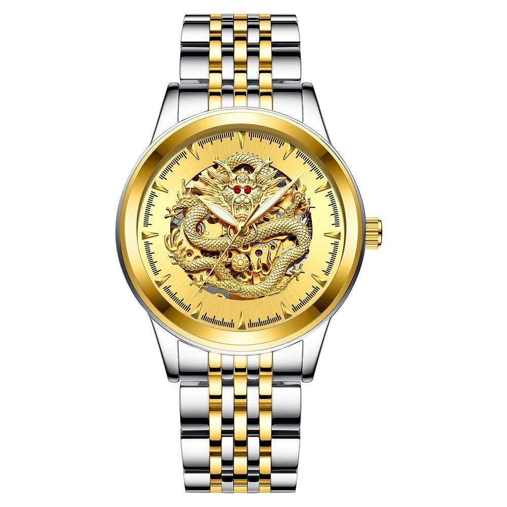 Alibaba.com / High quality mechanical chinese gold dragon Watches full steel belt automatic mechanical wristwatch waterproof watch for man