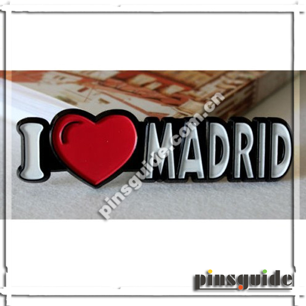 High Quality Rubberized I Love Madrid Fridge Magnet For Spain Souvenir