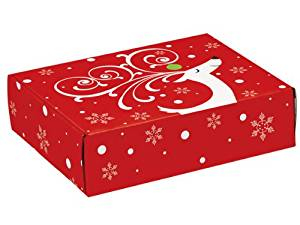 "Decorative Shipping Boxes - Dashing Reindeer Gourmet Shipping Boxes 12x9x3"" Auto Lock Boxes - (6 Per Pack) - WRAPS - 53DR"