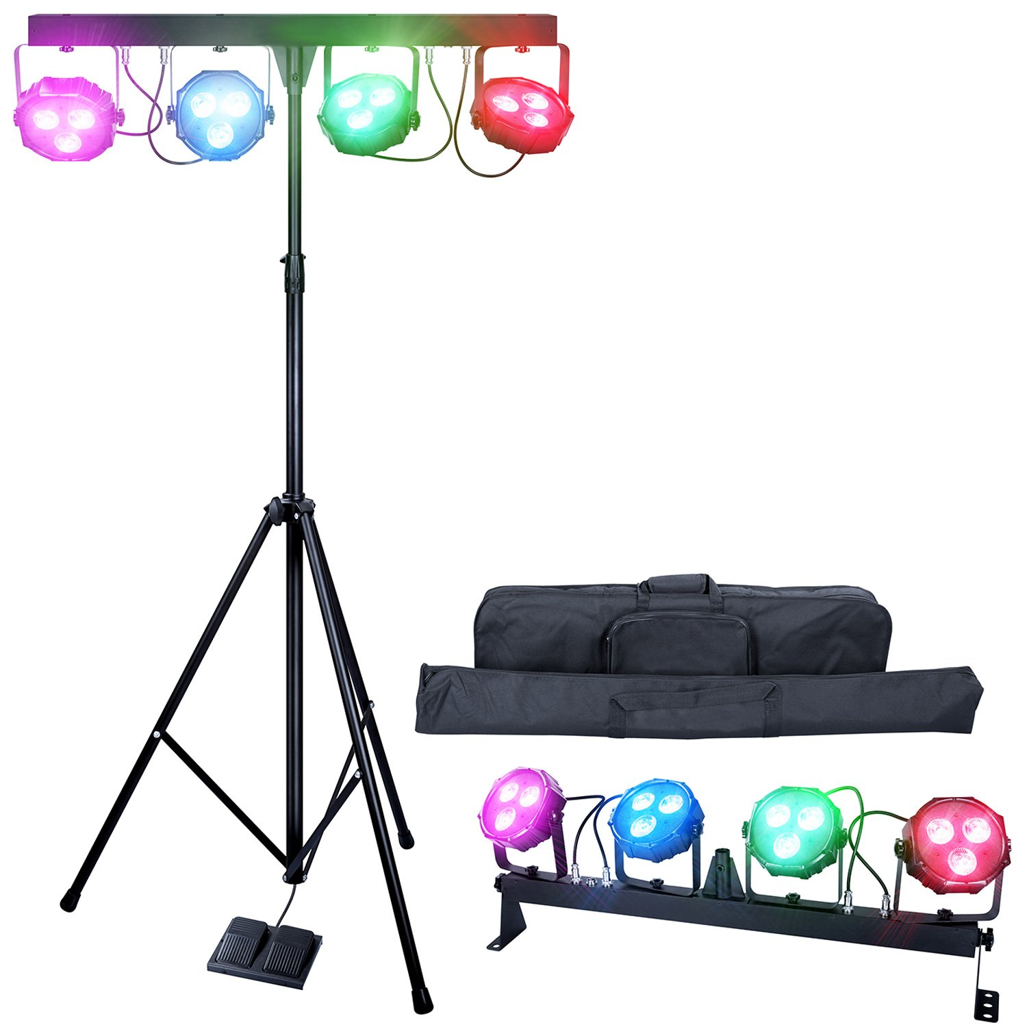 Dragonx 4 Bar Led Mobile Dj Stage