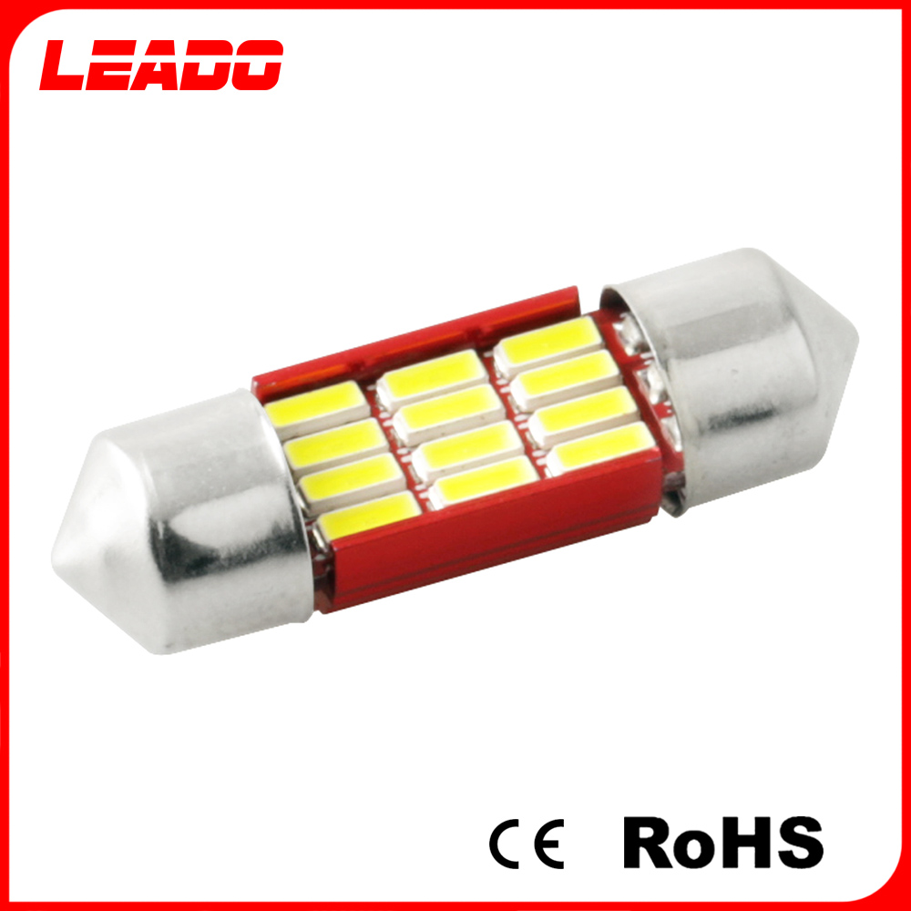 Easy To Install Car 12 Volt 31Mm 4014 Led Chip 6418 Festoon Car Led Light C5W For Car Accessories