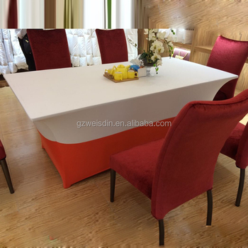 christmas coloring lycra spandex high bar cocktail table cloth for wedding