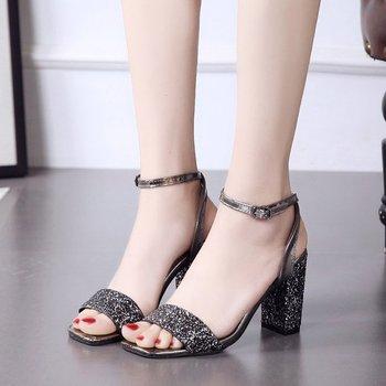 7035f69039e Ladies Wedding Low Heel Sandals Korean Summer Sandals - Buy Ladies ...
