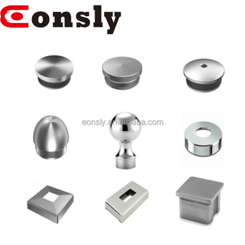 Aisi304 316 Mirror Satin Stainless Steel Metal Rod End Cap Staircase Barade Fence Baer Post Newel Pipe Decorative Stair