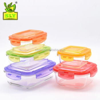Bpa Free Microwavable Restaurant High Borosilicate Glass Lunch Box