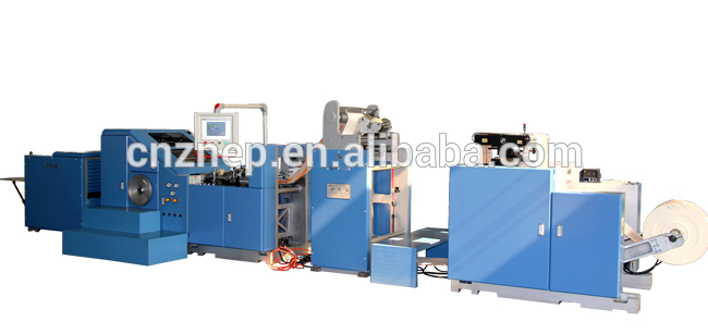 ZD-F190 Automatic Industrial Block Bottom Paper Bag Forming Plant