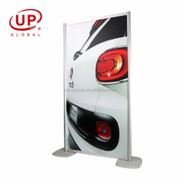 wall picture shelf banner stand with adjustable pole telescopic pole