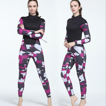 Top quality women lady stretch neoprene sprint suit 3mm surfing diving wet suit