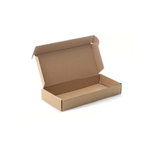brown corrugated cardboard storage box foldable recyclable shipping box
