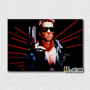 Famous movie poster pop art canvas pictures for living room