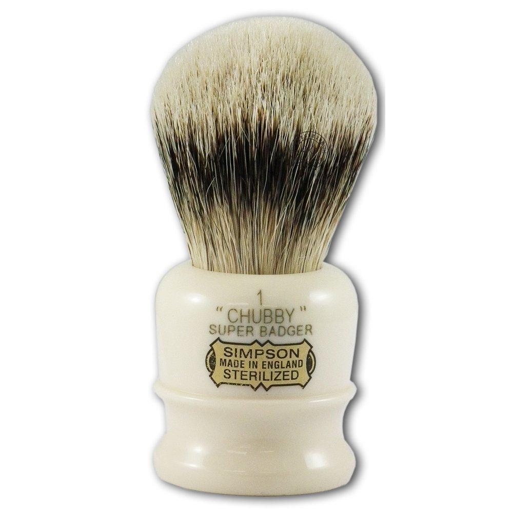 Simpsons Chubby 1 Super Badger Hair Shaving Brush In Imitation Ivory