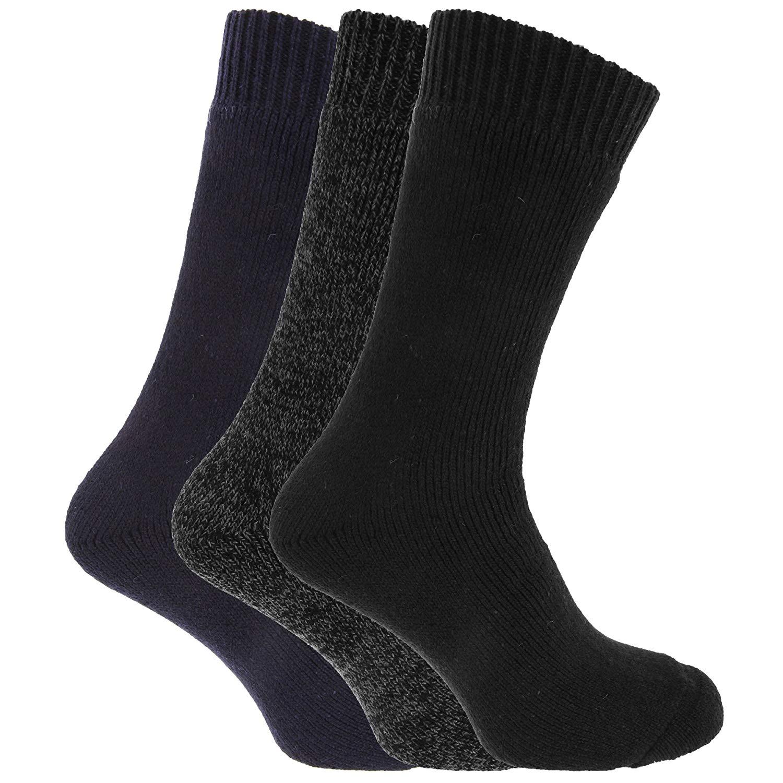 6 Mens CHUNKY Wool Blend EXTRA THICK Walking Boot Socks UK 6-11