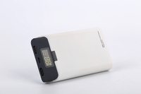 Factory Supplier 282g colorful lcd torch light portable power bank for promotion