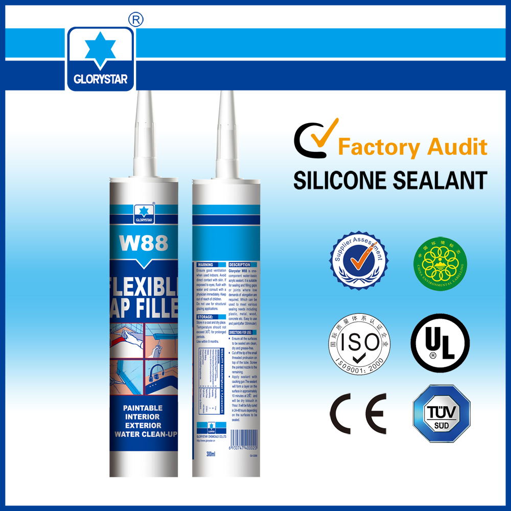 white color waterproof acrylic sealant and silicone for vent filler