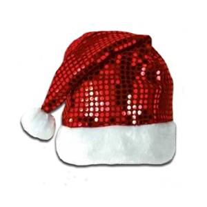 0d5aac7a75382 Get Quotations · Sequin-Sheen Santa Hat Pkg 12