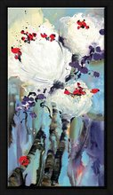 2012 new abstract flower oil painting