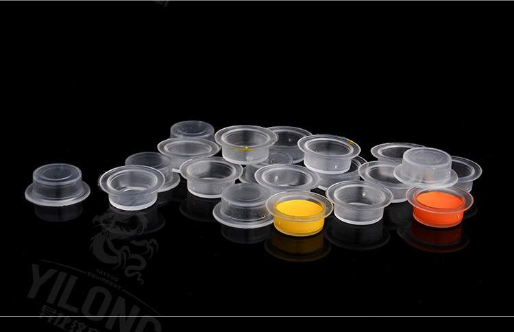 Yilong New Arrival Hot Sale Tattoo High Quality Hexagon pigment cap plastic ink cap 1000pcs
