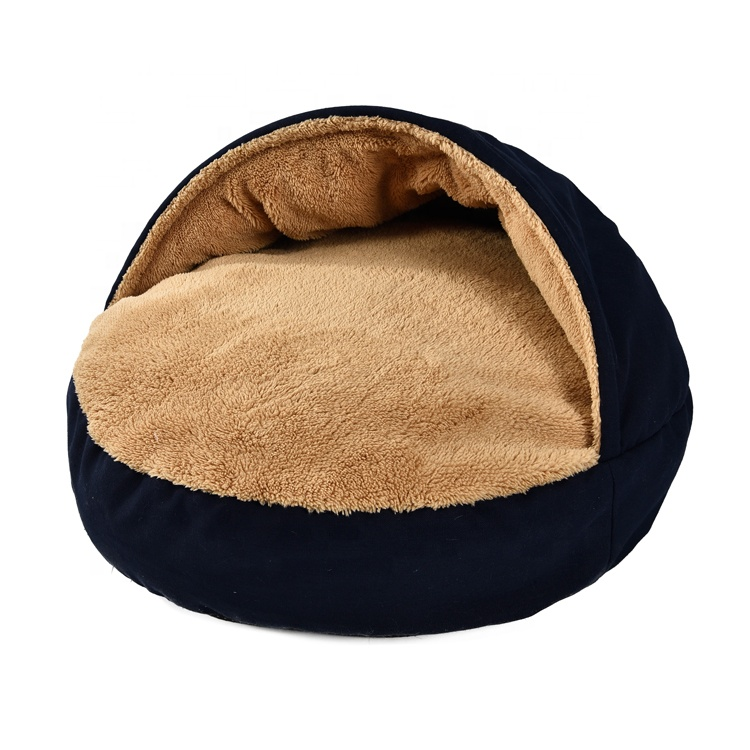 Custom Wholesale Home Goods Small Cute Plush Pet Dog Bed,new Design Private Label Soft Luxury Round Pet Dog Bed