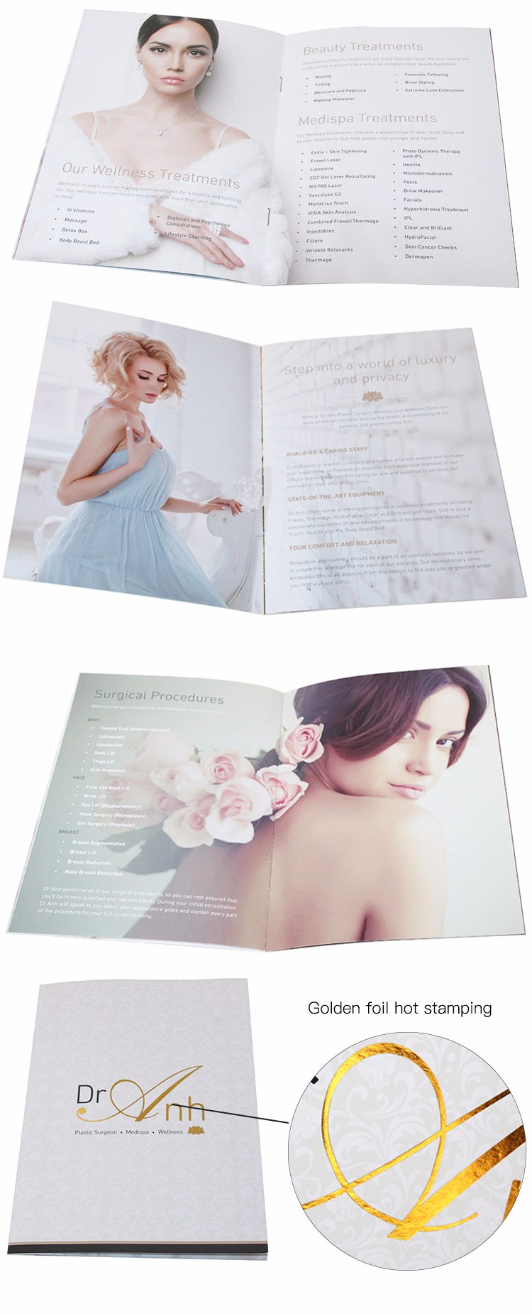 Wholesale full color custom folded a7 booklet printing services